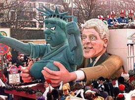 Clinton grasps for Liberty